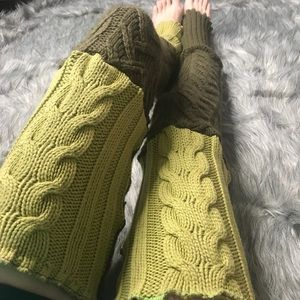 Handmade Thigh High Cable Knit Sweater Leg Warmers
